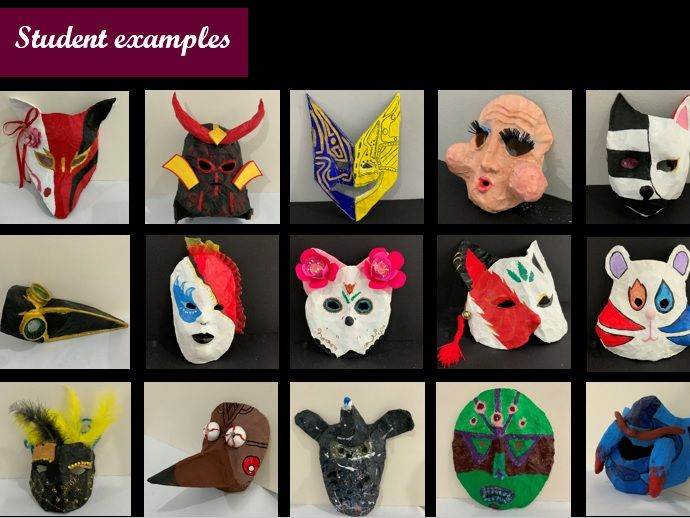 Masks inspired by different cultures