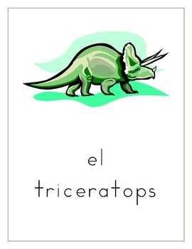 Dinosaur Counting worksheets in Spanish