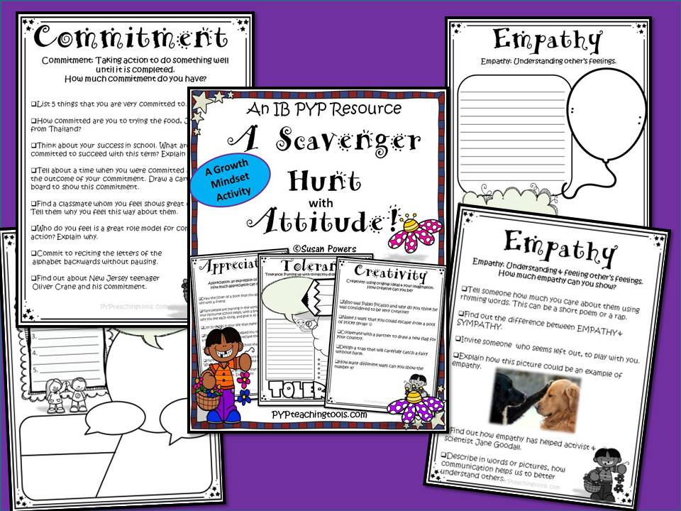 An IB PYP Growth Mindset Activity A Scavenger Hunt with Attitude