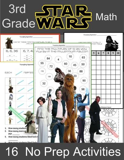 3rd Grade Math: Star Wars Activities
