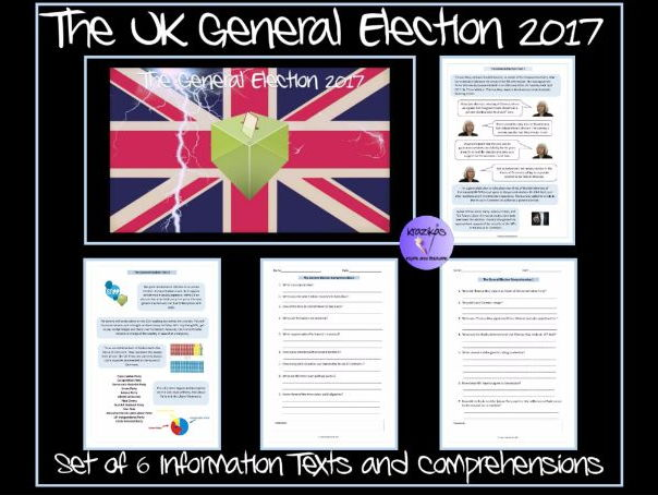 UK General Election 2017 - Set of 6 Information Texts and Comprehensions