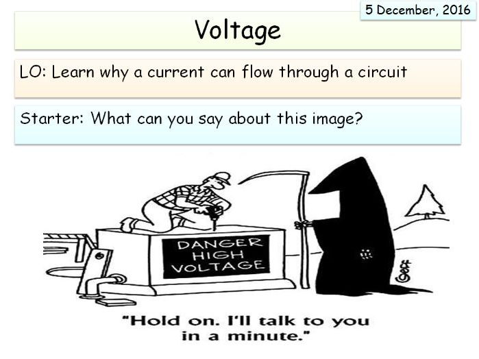 KS3 (Electricity Unit) - Voltage