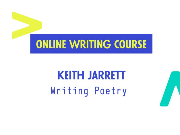 Remote Writing Course 5: Writing Poetry