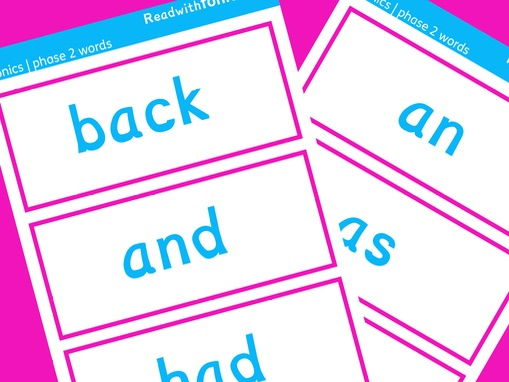 Phonics words flashcards | Phase 2 Letters and Sounds | Decodable words