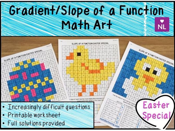 Gradient of a Function Easter Math Art