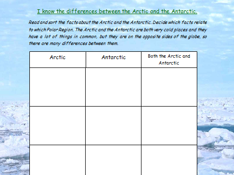 I know the differences between the Arctic and the Antarctic