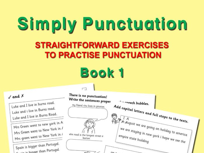 SIMPLY PUNCTUATION BOOK 1