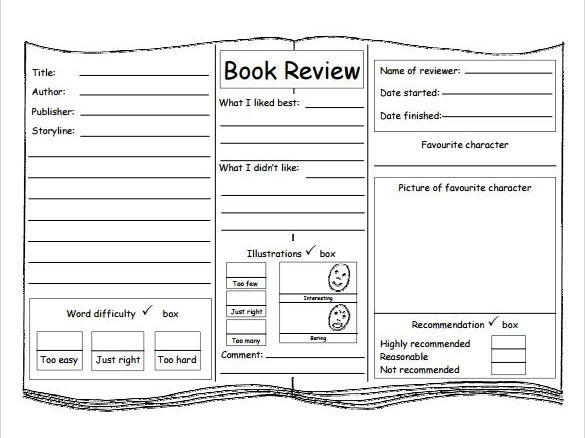 Book review template by chriswat teaching resources tes cover image maxwellsz