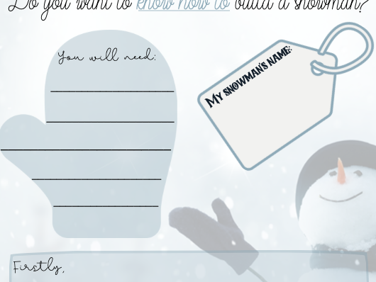 Christmas Themed Instructions Template
