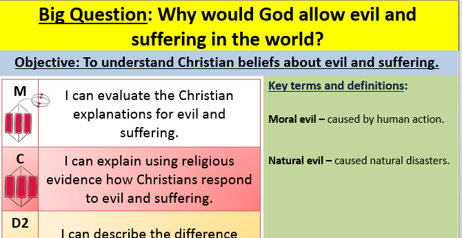 evil and suffering essay Free essay: guided analysis: suffering worksheet name: address the following questions, responding to each one directly below the question your total word.