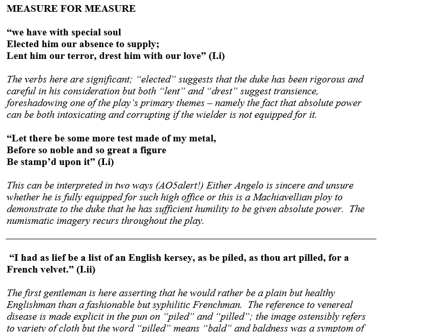 higher english all my sons of mice and men arthur miller x  measure for measure quotation pack for writing revision