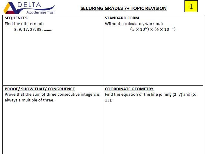 Securing Grade 7 Revision Booklets