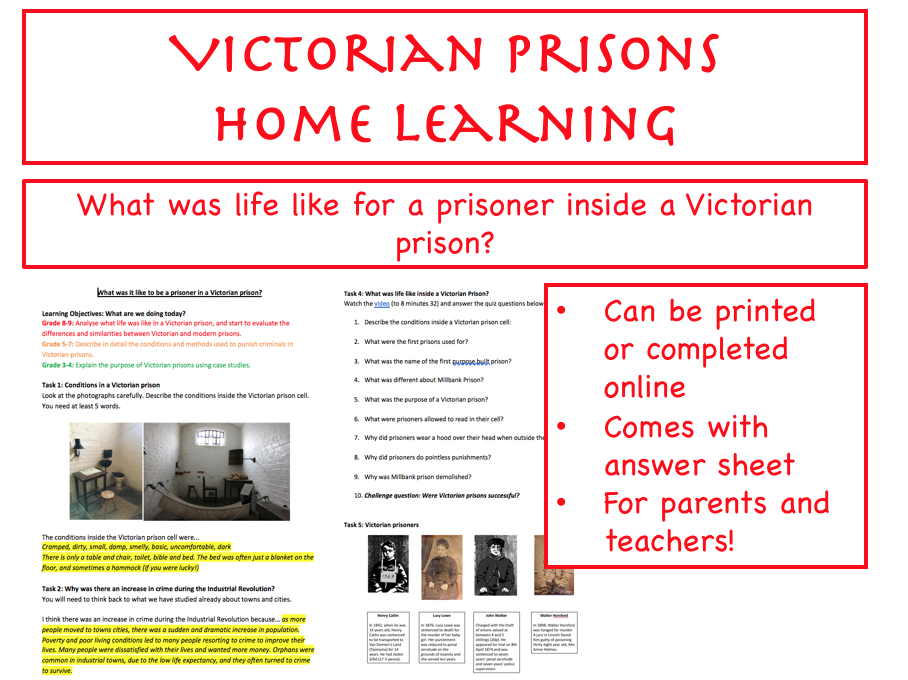 Victorian Prisons HOME LEARNING