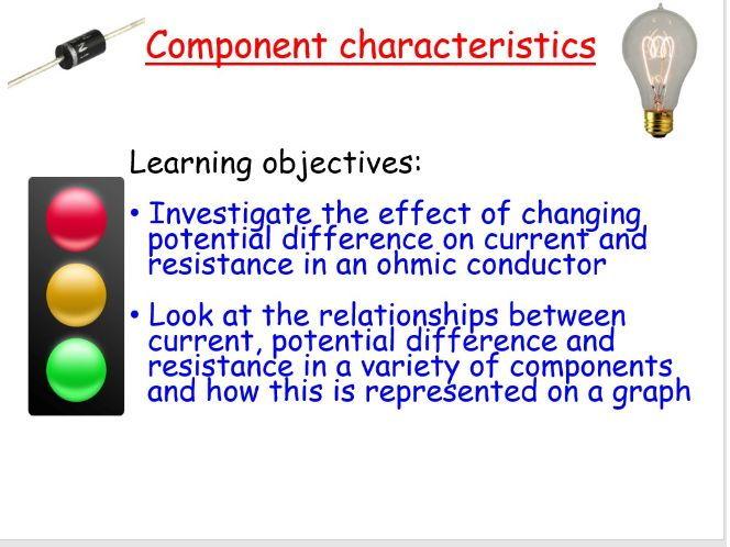 New AQA GCSE Physics: Component characteristics