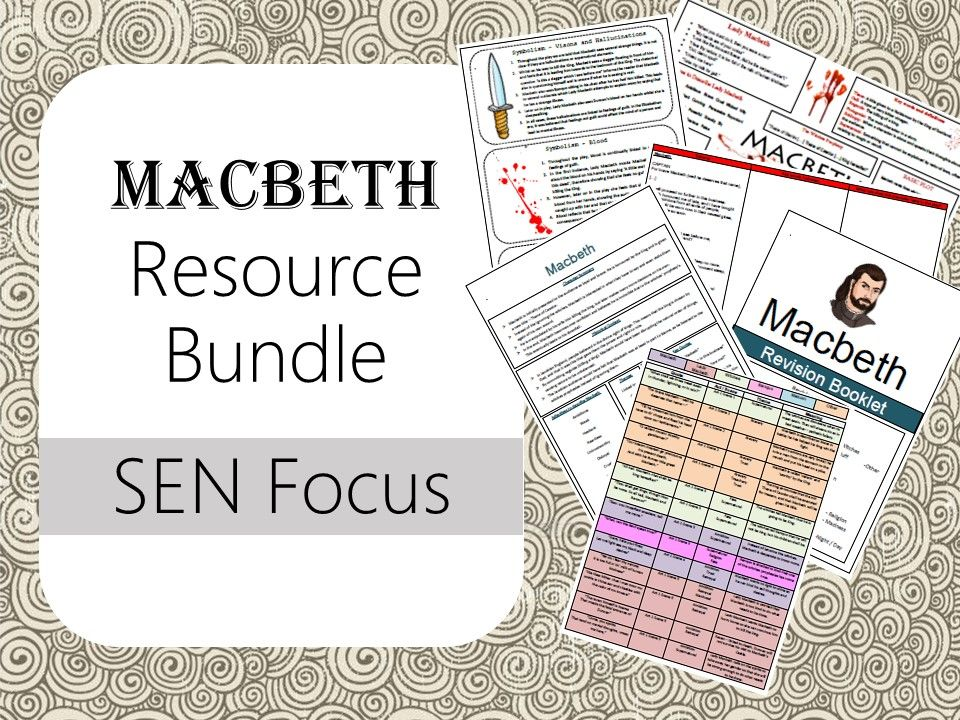 Macbeth Bundle (SEN focus) Differentiation