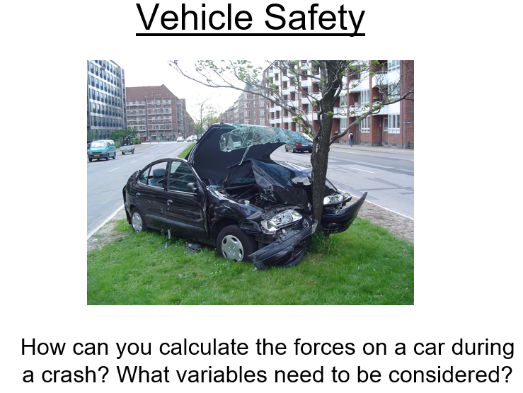 Physics A-Level Year 1 Lesson - Vehicle Safety (PowerPoint AND lesson plan)