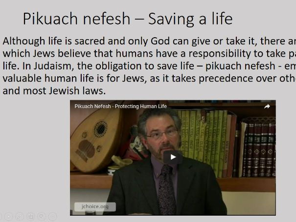 Judaism: The Sanctity of Life