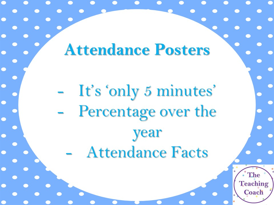 Attendance Posters - Classroom - Form Time - Head of Year - Tutors