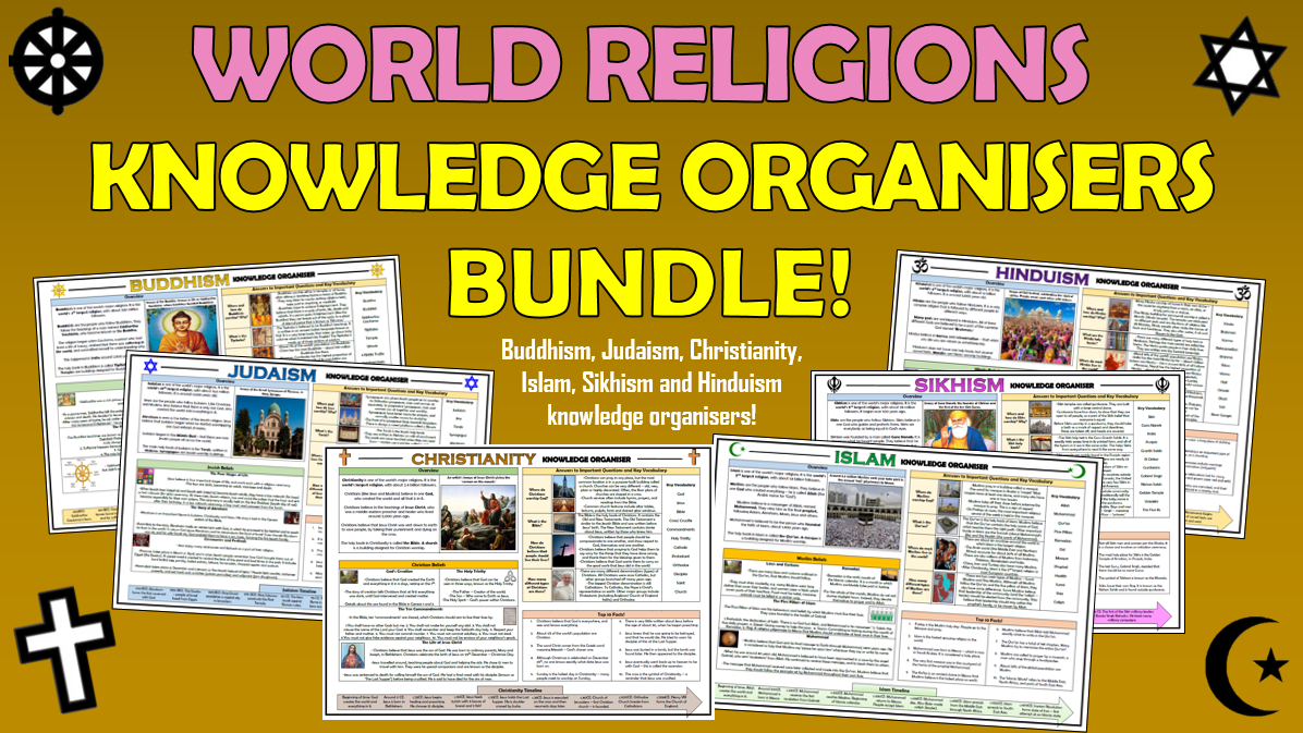 Major Religions Knowledge Organisers Bundle!