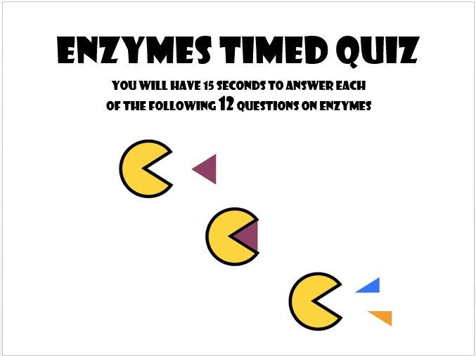 GCSE  Enzymes timed quiz - Biology