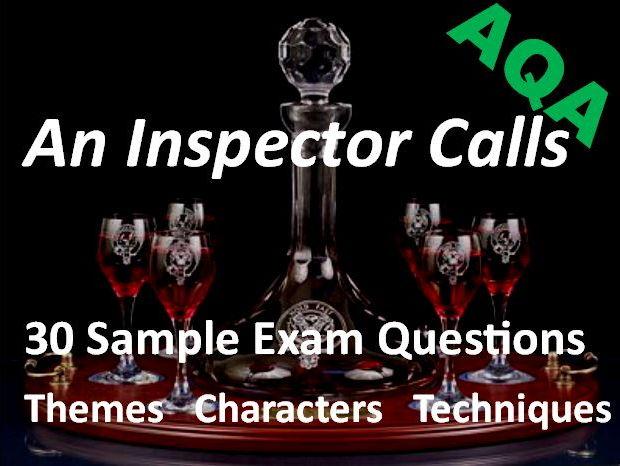 An Inspector Calls Exam Questions AQA