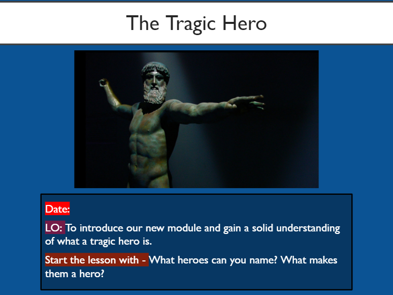Introduction to the Tragic Hero