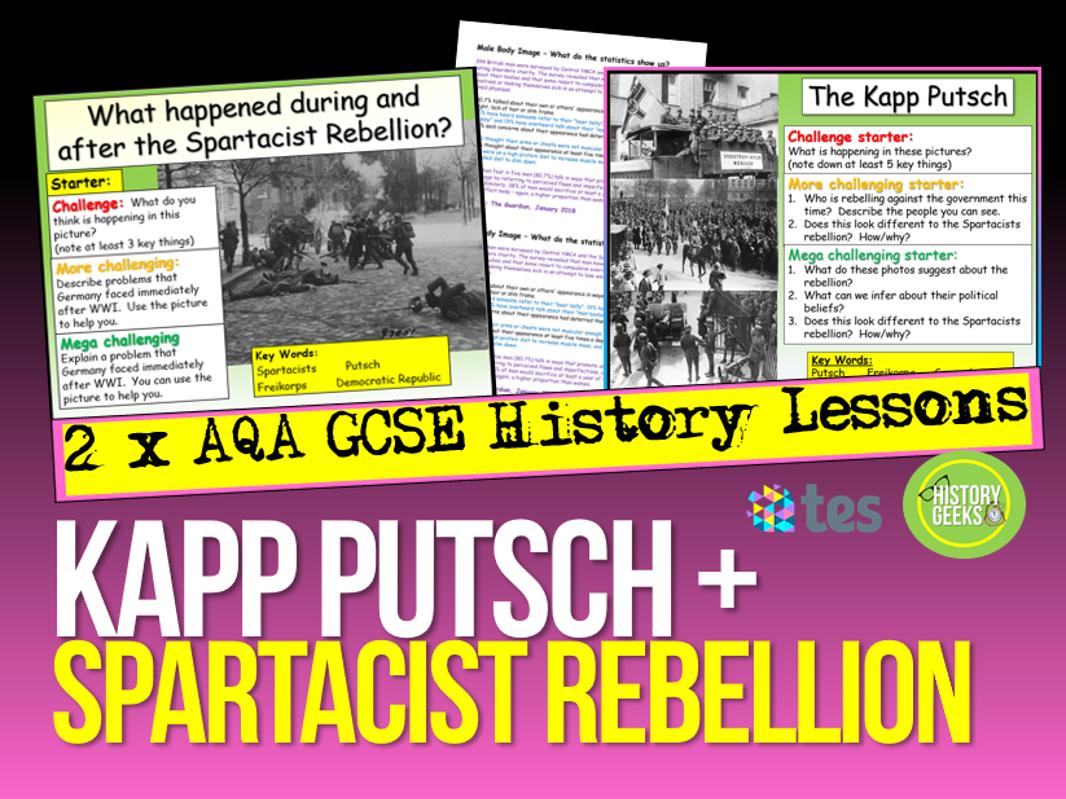 Kapp Putsch + Spartacist Rebellion