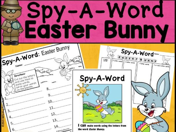 Easter Bunny Word Activity | Word Work Center