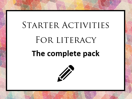 Bank of Literacy Starters (Two Bonus Social Skills Activities!)