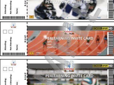 PE Invite Cards – PE Teams, Clubs, Groups, Events or Trips | PE4Learning