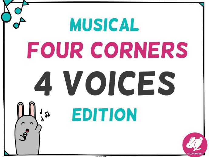 Musical Four Corners, 4 Voices PowerPoint Game
