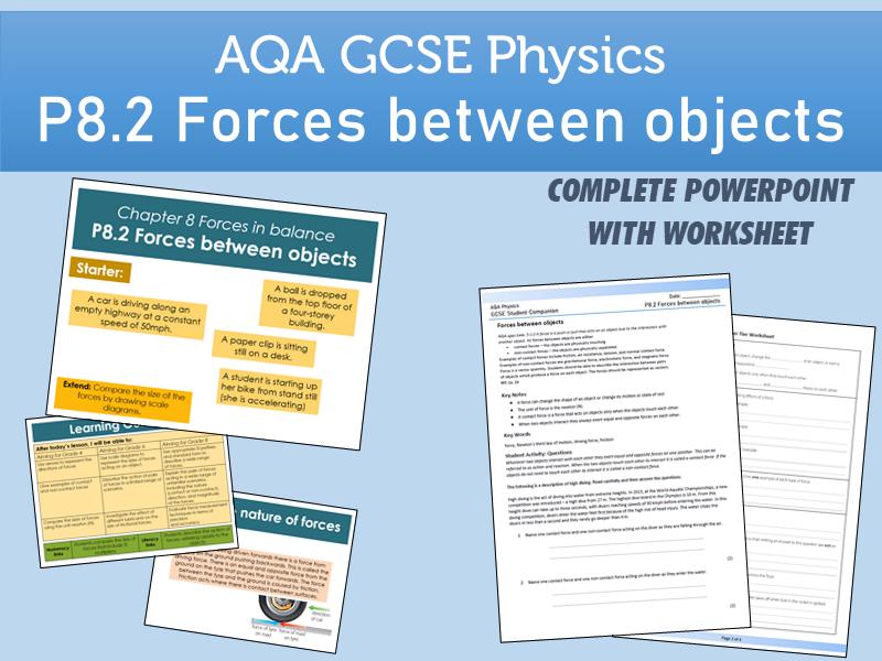 AQA GCSE Physics P8.2 Forces between objects