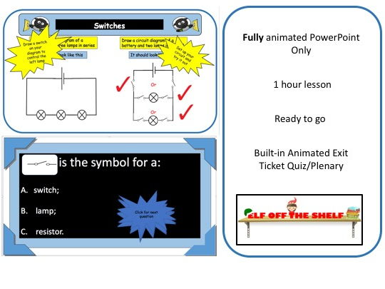 Electricity - Switches KS3 - Animated PowerPoint