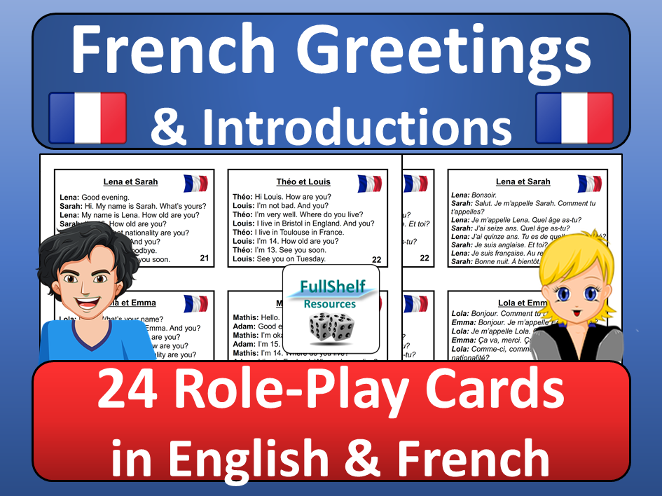 French Greetings Activity Role Play