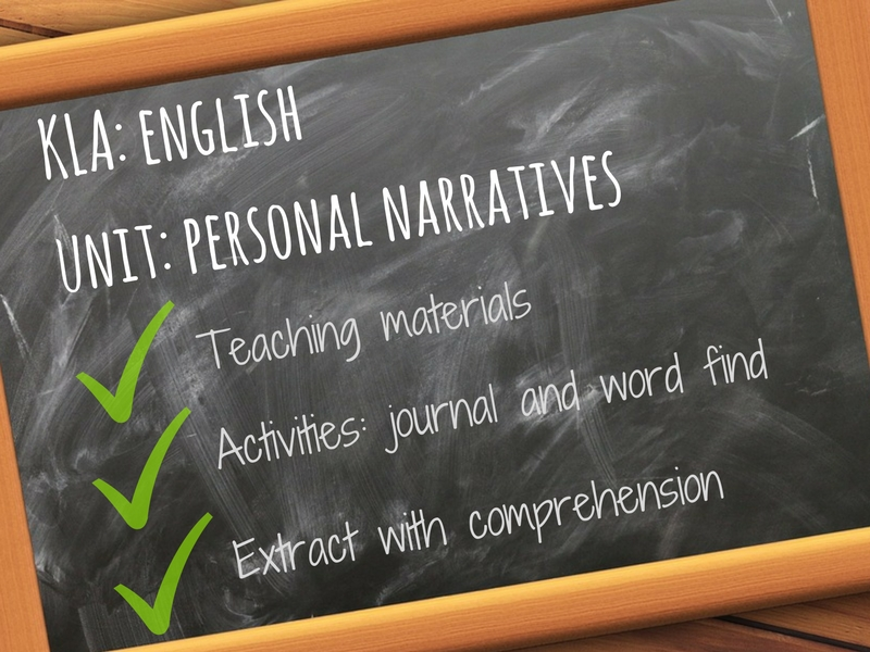 Personal Narratives - Introduction to Memoirs - PPT and Activities