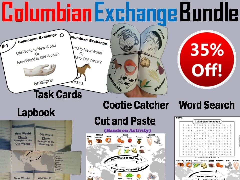 Columbian Exchange Task Cards And Activities Bundle By Sciencespot
