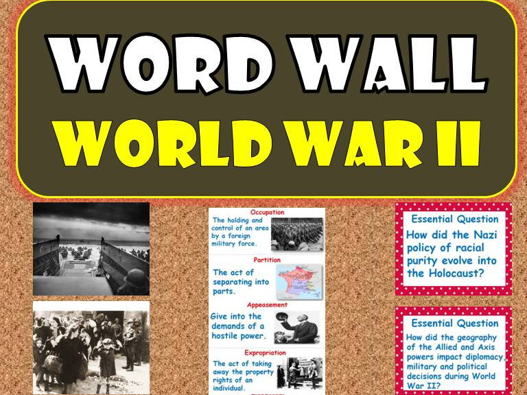 World War II WORD WALL Posters (World History)