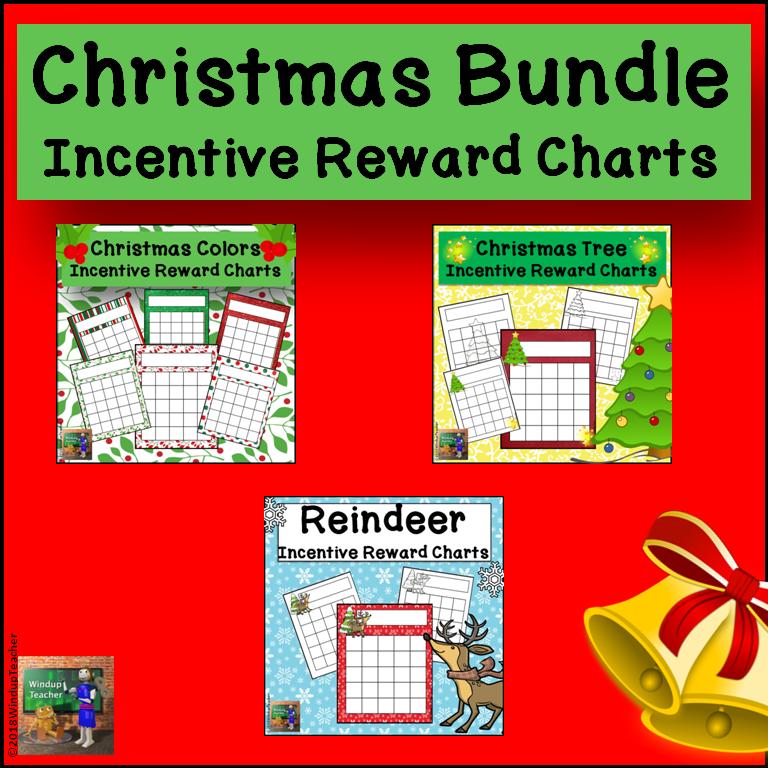 Christmas Incentive Reward Sticker Charts BUNDLE