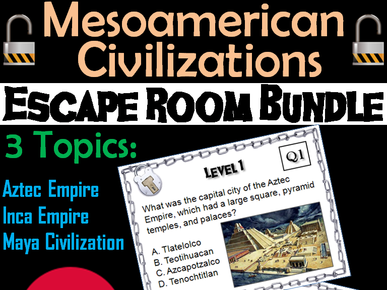 Mesoamerican Civilizations: Escape Room - Social Studies (Aztecs, Mayans, Incas)