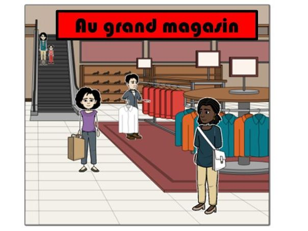 Key Stage 2 French: Places in the town: Shopping for clothes at the department store