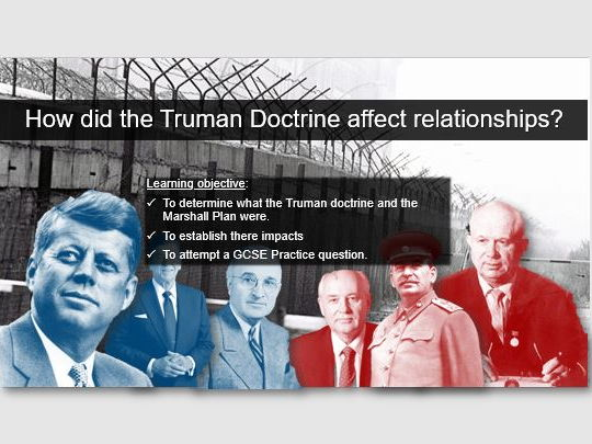 GCSE: The Cold War - Truman Doctrine + Marshall Plan (Edexcel spec)