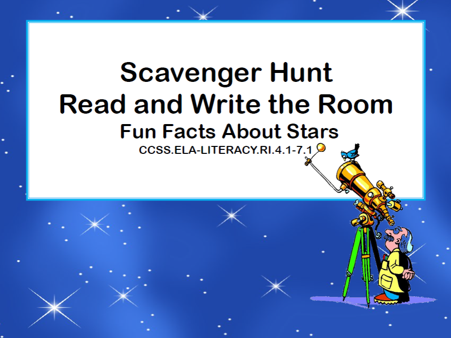 Stars- Read and Write The Room- Grades 4-7