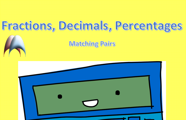 Fractions, Decimals, Percentages Matching Pairs Memory Games