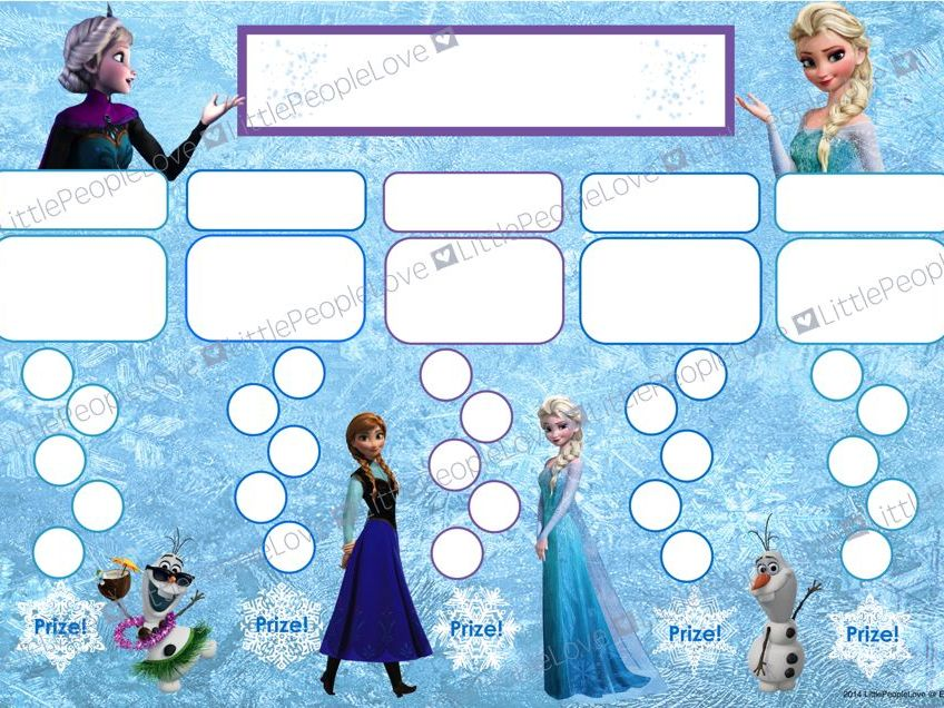Reward Chart - Frozen's Elsa