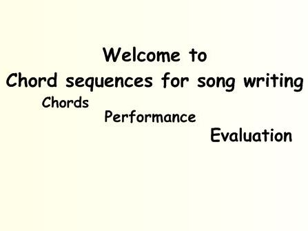 Chord Sequence for Song Writing