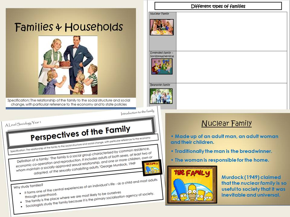AQA Sociology - Year 1- Families & Households - Introduction to the Family
