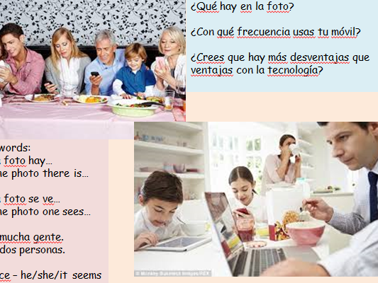Revision GCSE Spanish Technology Writing and Speaking AQA