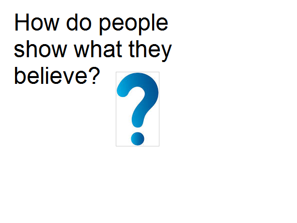 Year 4 RE Planning - How do people show what they believe?