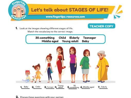 Let's talk about STAGES OF LIFE!
