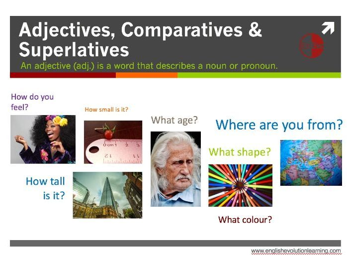 Adjectives, Comparatives & Superlatives for Elementary Learners